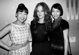 Teruko Nakajima, Chelsea Schuchman and Mariko Wordell at Ben Jones opening at...
