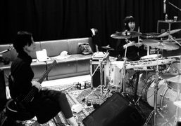 "Japanese band Boredoms rehearsing at ""Station to Station: A 30 Day Happening""..."