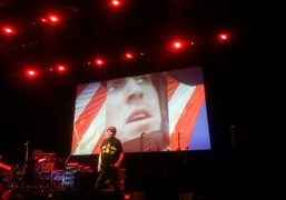 """Alan Vega performing for Suicide: A Punk Mass part of """"Station to..."""