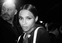 Ciara front row at the Public School S/S 2016 show, New York