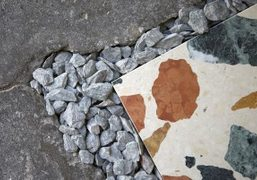 """Dzek presents """"Marmoreal,"""" an engineered marble for architectural surfaces, by designer Max..."""