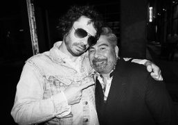 Olivier Zahm and Luis Barajas (editor-in-chief of Flaunt magazine) at the unofficial...