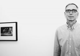 "Richard Kern at the opening of his show ""Photos 1979-1990"" at Marlborough..."
