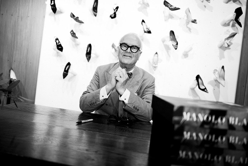 """Manolo Blahnik """"Fleeting Gestures and Obsessions"""" book signing at Liberty, London"""