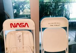 Tom Sachs sculptures presented by Half Gallery in Bungalow 252 at The...