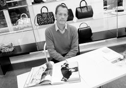 Horst Diekgerdes at the signing of his first monograph at Colette, Paris.