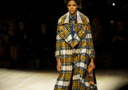 One look from the Burberry F/W 2016 show at The Albert Memorial,...