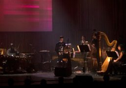 "Actress performing ""Momentum"" live concert with the London Contemporary Orchestra commissioned by..."