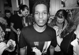 A$AP Rocky backstage at The Guess Party, New York