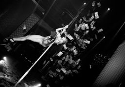A performer at the Linda Farrow: Stripped party during London Fashion Week...