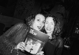 Masha Orlov and Viki Forshee at The Know magazine launch party at...