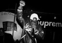 Cam'ron performing live at the Supreme Paris store opening after-party at Le...