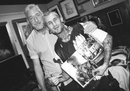 """David Feiling and Rain Blo at the """"Tom of Finland"""" book signing..."""