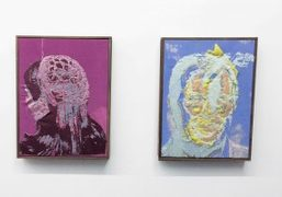 """A view of Brendan Fowler """"Portraits"""" exhibition at Mathew Gallery, New York."""