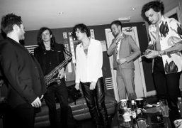 The English rock band The 1975 backstage at O2 Academy Brixton, London.