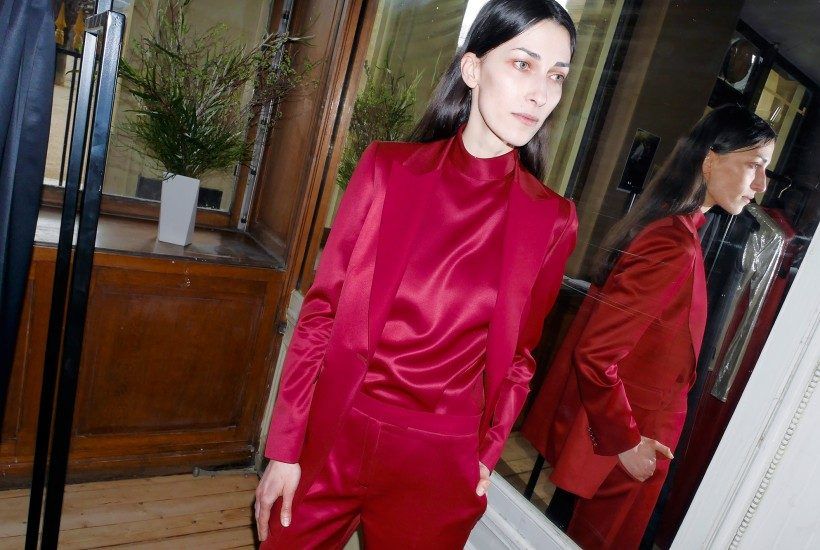 One look from the Pallas F/W 2016 presentation at Galerie de Beaujolais, Paris.