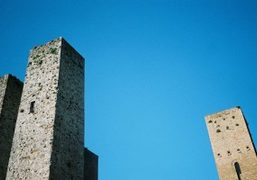 A view of the 14 towers of San Gimignano, Tuscany