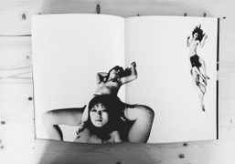 "Nobuyoshi Araki's photobook collection presented during the Araki ""Polanography"" exhibition at Galerie..."