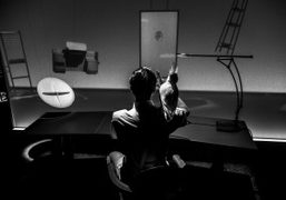 """Robert Wilson """"Here Elsewhere"""" immersive installation with objects from the Hermès Maison..."""