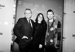 """Jean-Charles de Castelbajac and Robert Montgomery """"London/PaRis Love Letters"""" exhibition opening at..."""