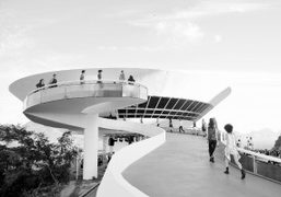 Louis Vuitton Cruise 2017 show at the Niteroi Contemporary Art Museum designed...