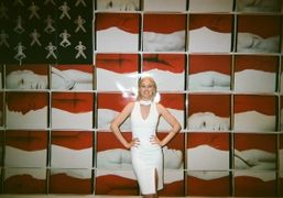 """Natalie White """"Natalie White for Equal Rights"""" exhibition opening at WhiteBox, New..."""