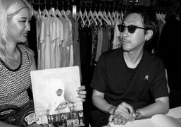 Jun Takahashi and Yoon during the signing session of the Undercover book...