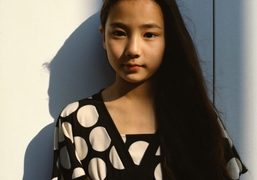 A portrait of the young Japanese actress Kyara Uchida in Tokyo.