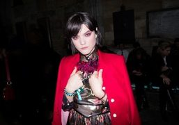 Soko at the Gucci Cruise 2017 show at Westminster Abbey, London