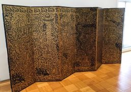 "Keith Haring's Panel as part of the ""Condo, de Kooning, Fischl, Haring,..."