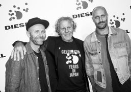Stefano Rosso, Renzo Rosso and Andrea Rosso at the Diesel 30th Anniversary...