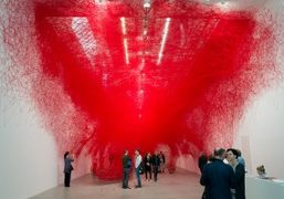 "Chiharu Shiota ""Uncertain Journey"" at Blain Southern, Berlin"