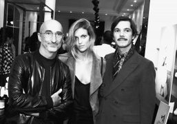 Pierre Hardy, Anja Rubik and Elie Top at the Pierre Hardy &...