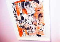 """Cecily Brown """"Rehearsal"""" at The Drawing Center, New York"""