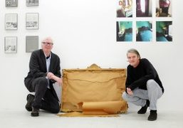 Nate Lowman and Don Fleming at the National Exemplar, New York