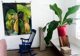 A visit to Che Lovelace studio visit in Trinidad