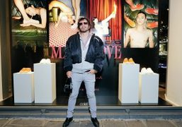 Purple x Santoni Make Love special edition sneakers launch and window display...
