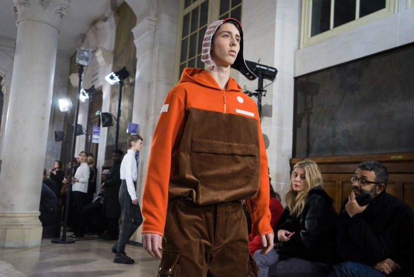 Julien David Men's F/W 2017 show at La Faculté de Pharmacie Observatoire, Paris