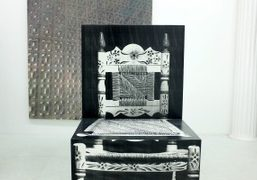 """Richard Artschwager and Kevin Zucker """"Chair, Wall"""" at The National Exemplar, New..."""