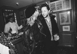 Edie Campbell and Derek Blasberg at a cocktail to celebrate the new...