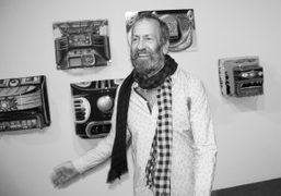 """Kenny Scharf """"Blox and Bax"""" solo show featuring performances by Ann Magnuson..."""