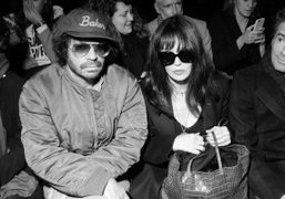 Olivier Zahm and iconic actress Isabelle Adjani at the Jacquemus F/W 2017...
