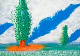 "David Hockney ""The Yosemite Suite"" exhibition at Galerie Lelong, Paris"