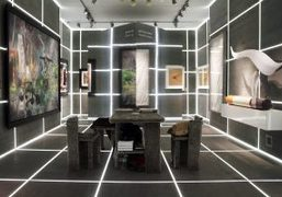 Optical experience designed by Alexandre de Betak for Galerie Gmurzynska's exhibition booth...