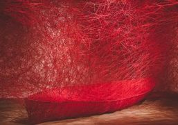 "Chiharu Shiota ""Destination"" exhibition at Galerie Daniel Templon, Paris"