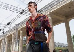 Louis Vuitton Men's S/S 2018 show at Domaine du Palais Royal, Paris