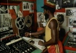 Lee Scratch Perry recording in The Black Ark Studio