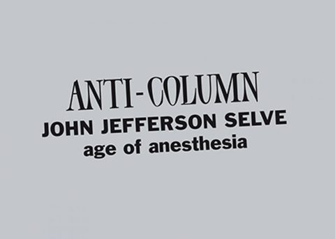 Age of Anesthesia