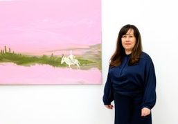 "Genieve Figgis ""Wish you were here"" exhibition opening at Almine Rech Gallery,..."