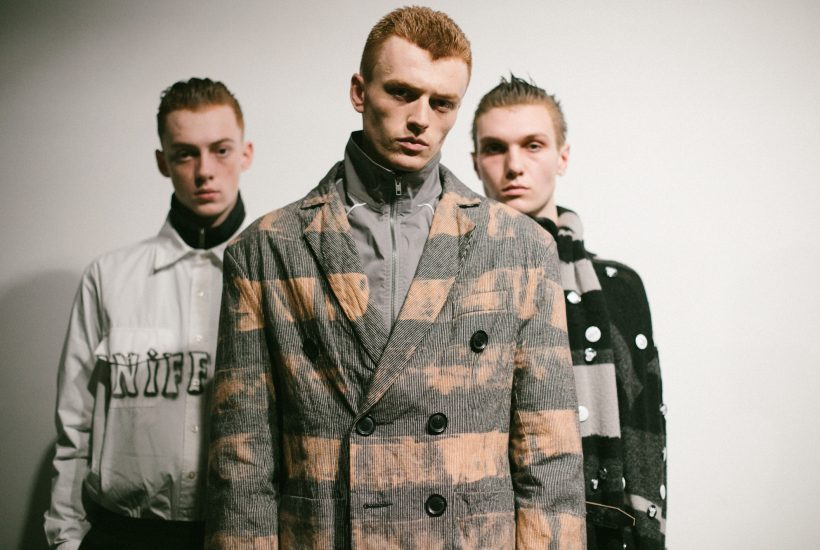 Liam Hodge F/W 2018 backstage at 180 The Strand, London